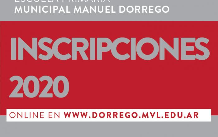 #Inscripción ► Escuela Municipal Primaria Manuel Dorrego
