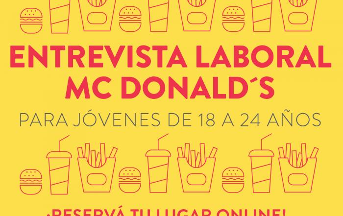 #CuposAgotados - Entrevistas Laborales en Mc Donald's para jóvenes